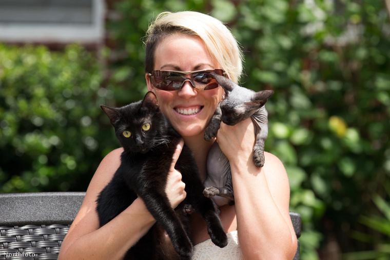April Arguin szereti a sima házi cicákat is, de azért imád különleges fajtákat összehozni.
