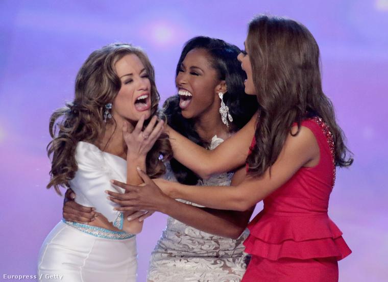 A legjobb pillanat nyilván az volt a hétvégén megrendezett versenyen, mikor Miss Georgia megtudta, hogy ő lett Miss America