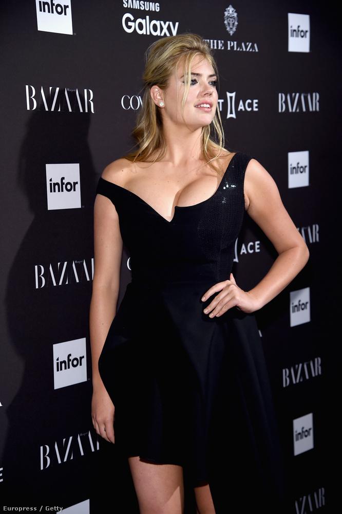 De Kate Upton kivételesen nem hozta a szokásos formáját a Harper's Bazaar eseményén