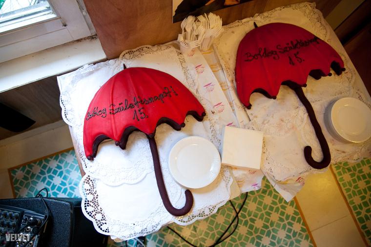 A SZEXE piros esernyős tortával ünnepelte a 15