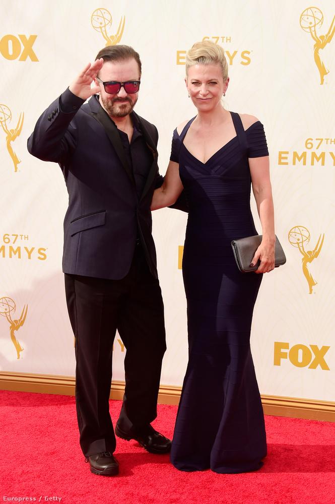 Ricky Gervais brit színész-humorista felesége, Jane Fallon oldaláról köszönt mindenkit