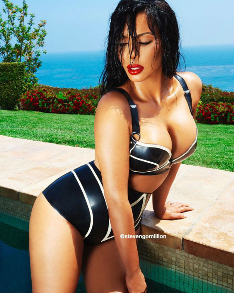 A képeket egyébként Steven Gomillion készítette Kardashian új oldalára.
